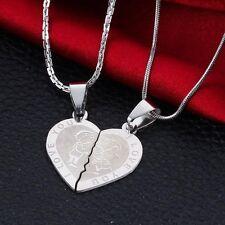 Partner Halsketten Set Freundschaft Herz Paar