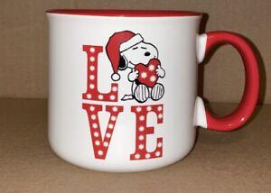 Peanuts Holiday. Snoopy, Love Christmas Coffee Mug 20 Oz New
