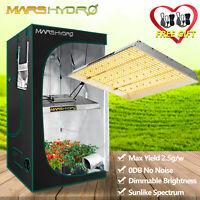 Mars Hydro TSW 2000W LED Grow Lights +4'x4' Grow Tent Indoor Garden Veg Flower