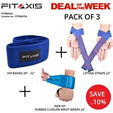 """FITAXIS® Deal"""" Fitness Weightlifting Bodybuilding Gym Support Products Pack OF 3"""