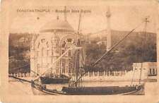 Constantinople Turkey boats Mosque de Dolma Bagtche antique pc Y15499