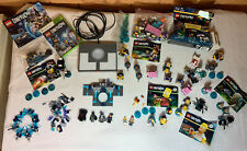 Lego Dimensions Lot with XBox 360 Minifigure Base Game Pads Parts, Simpson, etc.