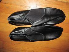 Women's Black Leather Jazz Dance Slip On Shoes Size 14 M NEW