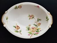 """Vintage Lynmore Fine China Golden Rose 10"""" Oval Vegetable Bowl more avail"""