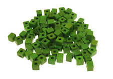 70 Green Dyed Synthetic Turquoise Cube Beads size 4x4mm