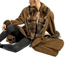 Luxus Pelzmantel 38 M Kaschmir Swinger Zobel Pelz Cashmere sable zibeline coat