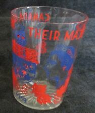 ROYALTY GEORGE VI COMMEMORATIVE GLASS 1939 CANADA GREET THEIR MAJESTIES (2 AVAIL