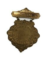 1893 Worlds Fair Columbian Exposition Chicago Ohio Souvenir Pinback Badge Medal