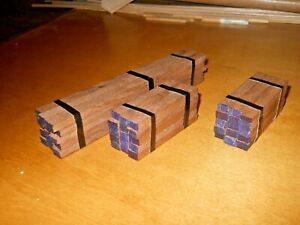 HO Scale Flat Car Lumber Load  Real  Walnut Wood Handmade