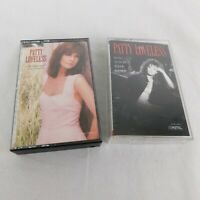 Lot of 2 Patty Loveless Cassettes On Down The Line 1990 Up Against My Heart 1991
