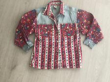 C&A Vintage 90s Denim & Floral Denim Long Sleeve Shirt 116cm