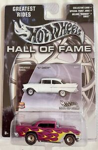 HOT WHEELS  HALL OF FAME GREATEST RIDES '57 CHEVY REAL RIDERS