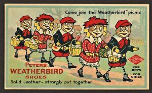 Weatherbird Shoes Advertising Postcard