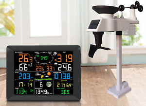 Solar Powered Professional WiFi Wireless Weather Station with Display 0310