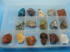 ROCK and MINERAL COLLECTION in Collector's Box - Premium Specimens - Geology