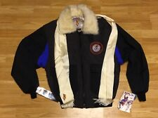 NWT Vintage Hotdogger Jacket WW2 Mountain Bomber w/ Scarf Skiing Size Medium