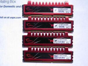 Lot 4 x 4GB G. SKILL PC3-12800 (DDR3-1600) 1600 MHz PC3-12800 DDR3 Memory