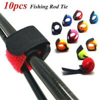 10Pcs/Bag Fishing Rod Band Fixing Tie Strap Adjustable Pole Belt Nylon Wrap Tool
