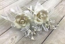 """6 pcs/lot Groom 3"""" Boutonniere wedding Silk flower man suit party decoration"""
