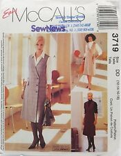Womens Office Jumper Dress Shirt Blouse Sewing Pattern 3719 Size 12 14 16 18 New