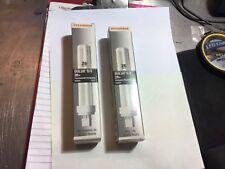 (2) Sylvania 20684 Delux D/R 26W Compact Fluorescent CF26DD/E/827/ECO