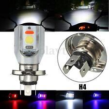 H4 COB LED Motorcycle Hi/Lo Beam Headlight Front Light Fog Bulb Spot Lamp 6500K