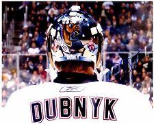 Edmonton Oilers DEVAN DUBNYK Signed Autographed 8x10 Pic G
