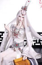 "8-9-10"" 1/3 BJD White Straight Long Ancient Wig LUTS Doll SD DZ DOD MSD Hair UAL"