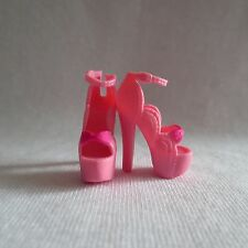 NEW Barbie Fashionista Doll Pink High Heel Ankle Strap Shoes ~ ADD ON ITEM!
