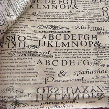 50x150cm Cotton Linen Fabric Print English Newspaper Throw Pillow Cloth F16 B#