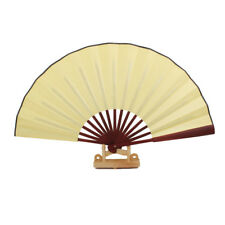 Chinese Blank Silk Folding Hand Fan Calligraphy Writing Dancing Wedding Gift