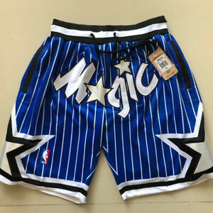 New Orlando Magic Blue Retro Men Basketball Shorts Size:S-XXL