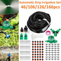 26/66/98/131FT Automatic Drip Irrigation System Kit Plant Watering Garden Hose