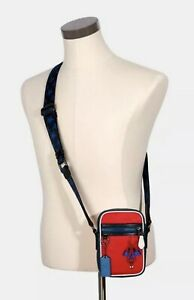Coach x Marvel Terrain Crossbody with Spiderman - New with Tags 2431 Miami Red