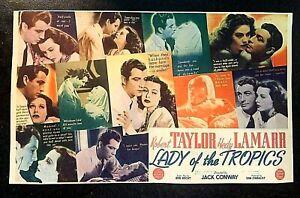 LADY OF THE TROPICS 1939 ORIGINAL MOVIE HERALD, ROBERT TAYLOR, HEDY LAMARR