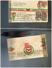 s1516  Air PS Cover Used Mexico Receipt Argentina 1945 / Mepsi AE33 / 25c - WWII