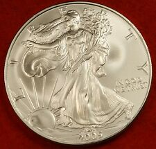 2005 AMERICAN SILVER EAGLE DOLLAR 1 oz .999% BU GREAT COLLECTOR COIN GIFT