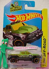 Case Q 2014 i Hot Wheels OFF-DUTY #140☆Green/Black/Yellow Truck;80☆Off-Road