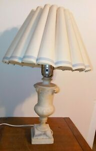 ANTIQUE VINTAGE MARBLE DESK LAMP