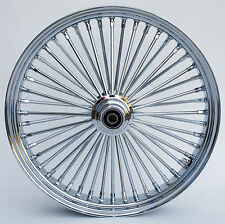 "Chrome 48 King Spoke 21"" x 3.5"" Front Single Disc Wheel for Harley/Custom Models"