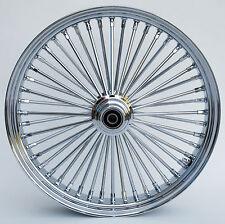 """Chrome 48 King Spoke 21"""" x 3.5"""" Front Wheel for Harley and Custom Models"""