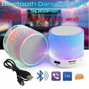 Portable Wireless Mini Bluetooth Speaker Super Bass Stereo with LED Light NEW