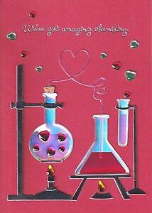PAPYRUS VALENTINES CARD NIP MSRP $7.95 CHEMISTRY CARD (N17)