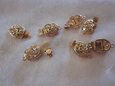 5 Gold Plated Box Clasps 19x10x5mm #3199 Combine Post-See Listing