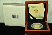 2001 CANADA $10 MAPLE LEAF HOLOGRAM 1/4 OZ .9999 FINE GOLD -LIMITED EDITION OGP