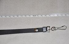BLACK METAL CLIP PU LEATHER NECK STRAPS LANYARD FOR  CAMERA,MOBILE PHONES,ID