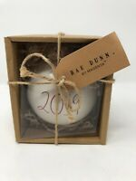 Rae Dunn Ceramic Ornament 2019 Ball Christmas With Red Large Number. NEW
