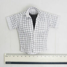 1/6 HOT Male White & Black Checkered Shirt BACK TO THE FUTURE Marty Mcfly TOYS