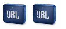 SET OF 2!! JBL Go 2 Portable Bluetooth Speaker - Blue JBLGO2BLU