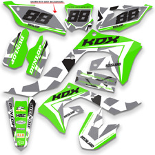 1991 1992 1993 1994 KDX 250 GRAPHICS KAWASAKI CAMO KDX200 MOTOCROSS DIRT DECALS